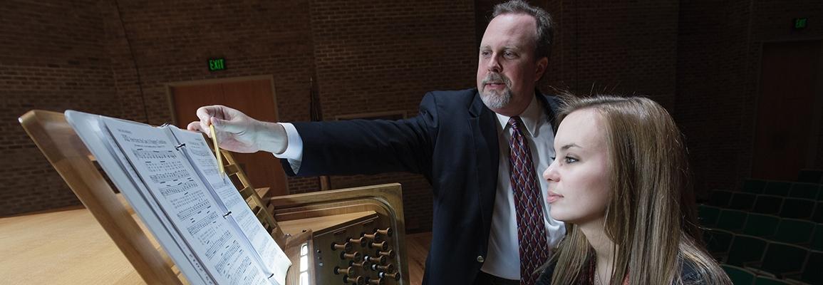 organ performance professor and student